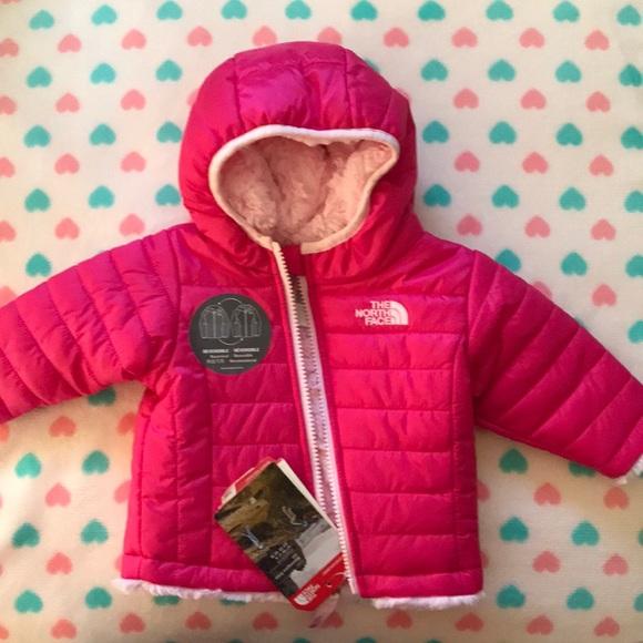 da414229 Baby Girl Pink North face puffer Jacket